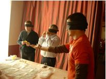 juego sentidos cata quesos a ciegas