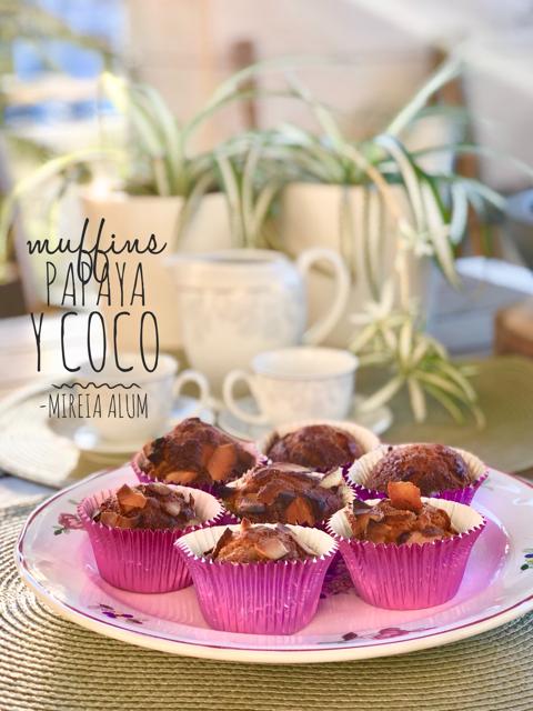 muffins de coco y papaya