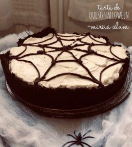 tarta de queso de halloween