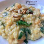 risotto de calabaza y espinacas