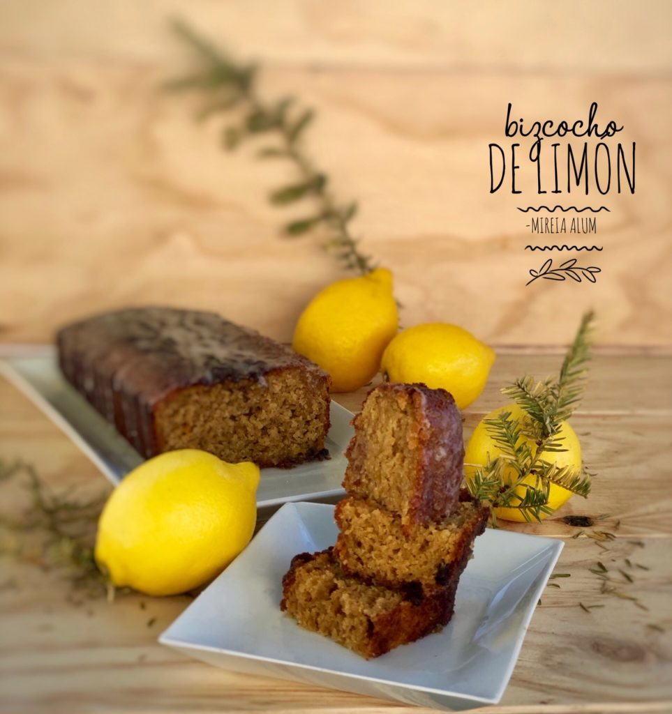 bizcocho de limón con glaseado