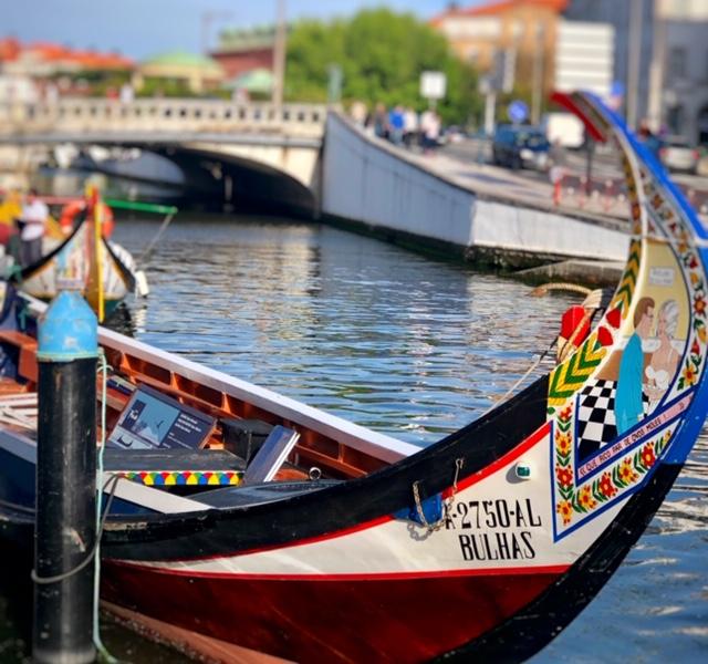 paseo en barca o moliceiro en aveiro portugal