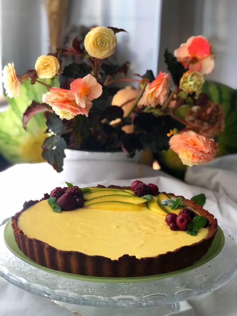 tarta de mango coco y lima
