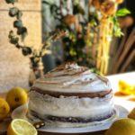 tarta sorpresa de cumpleaños de limón y merengue