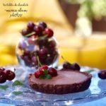 tartaleta de chocolate vegana sin gluten y sin azucares añadidos