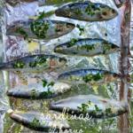 sardinas al horno con perejil y ajo