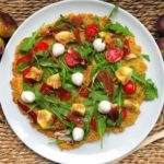 pizza saludable de quinoa