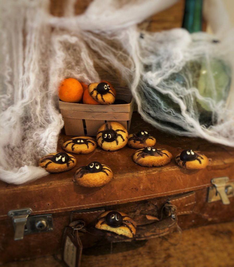 Galletas araña de Halloween