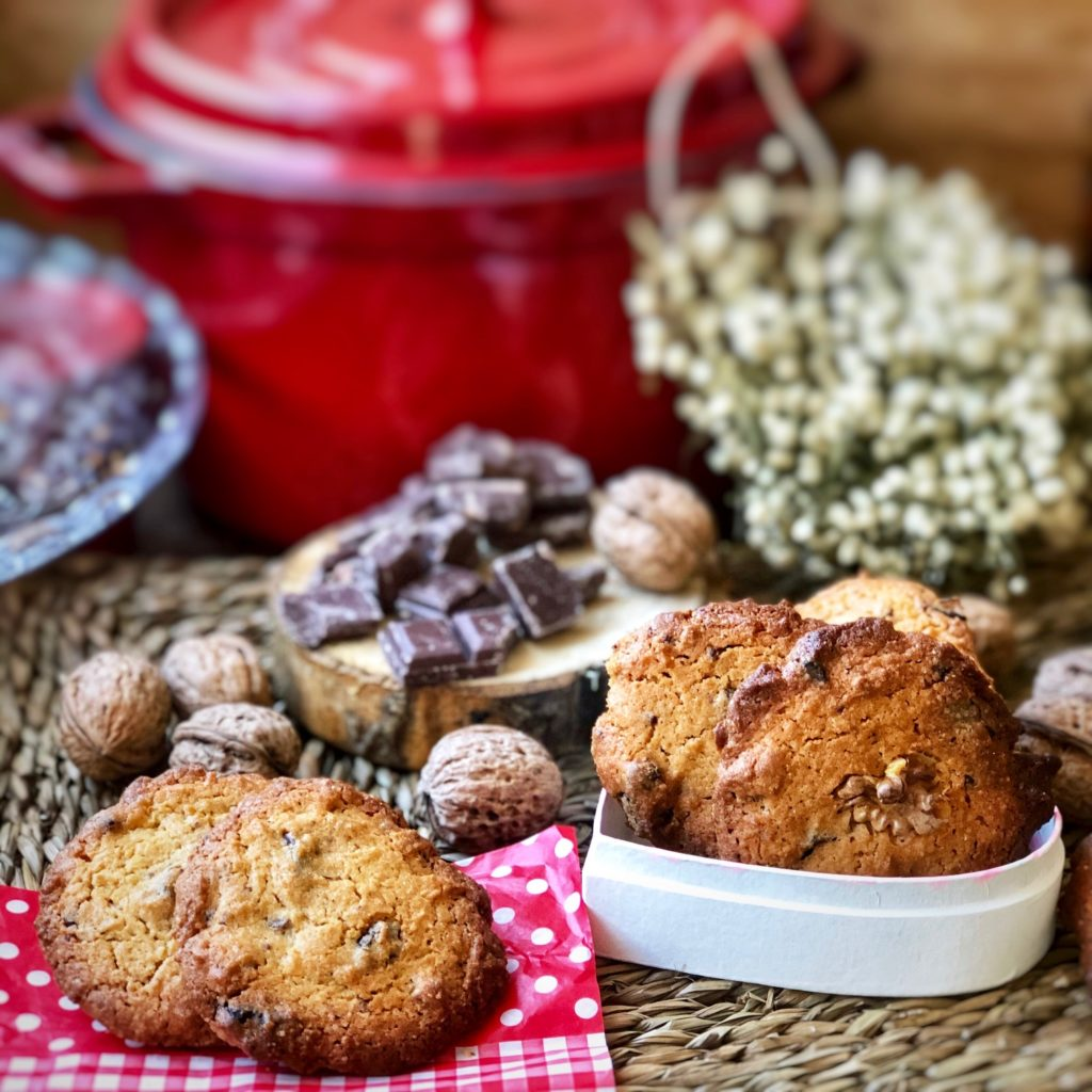 Cookies caseras de chocolate y nueces