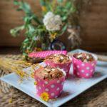 Muffins veganos y sin gluten de avena nueces y dátiles
