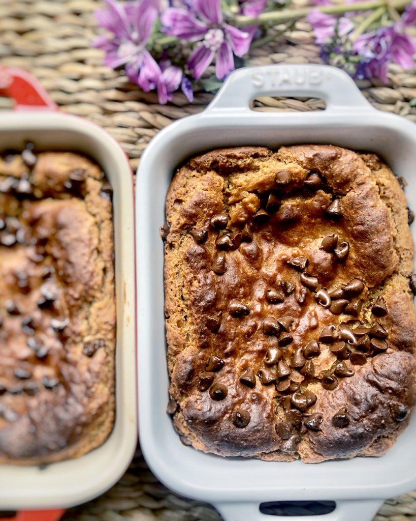Cookie templada vegana y sin gluten con garbanzos y mantequilla de cacahuete