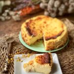 Tarta de queso cremosa e intensa con queso de oveja