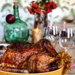 Pavo de navidad relleno de ternera, foie, dátiles y manzana