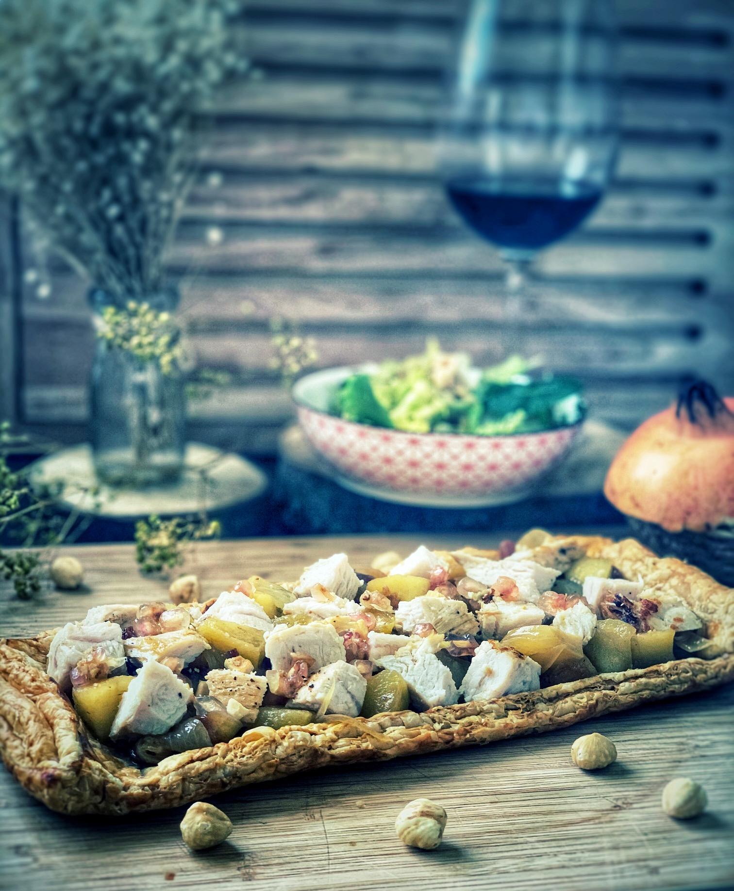 Tarta salada de solomillo de pavo en escabeche