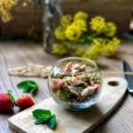 ensalada de quinoa pavo y fresas